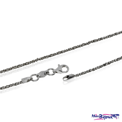 Stříbrný řetízek třpytivá Daisy - 40 cm