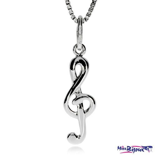 Stříbrný přívěsek ve tvaru houslového klíče