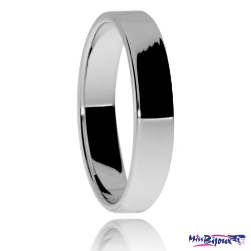 Stříbrný snubní prsten, rovné hrany