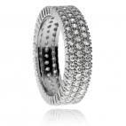 Stříbrný prsten se zirkony (cubic zirconia) po celém obvodu