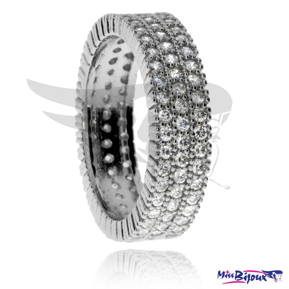 Stříbrný prsten se zirkony (cubic zirconia) ... 8554179444b