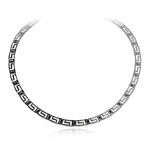 Stříbrný náhrdelník s řeckým vzorem