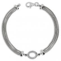Stříbrný náramek se zirkony (kubická zirkonie) kruhová ozdoba