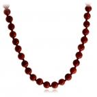 Náhrdelník z červeného korálu - kuličky