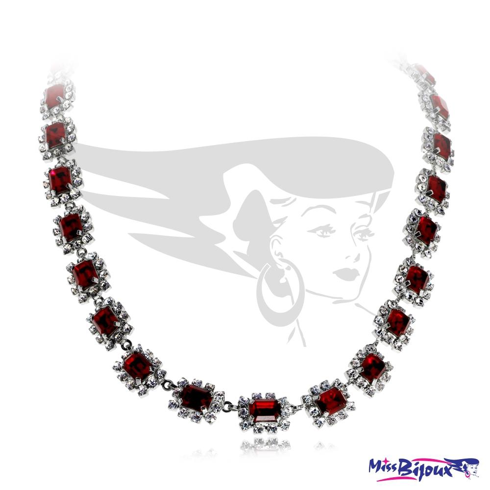 6602832ce Bižuterní náhrdelník štrasový - Červená