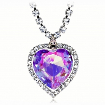 Bižuterní náhrdelník Preciosa Necklace Violet 2025 56L - 45cm