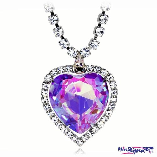 Bižuterní náhrdelník Preciosa Necklace Violet 2025 56L - 41cm