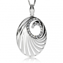 Stříbrný přívěsek s křišťálem Swarovski - Spirála