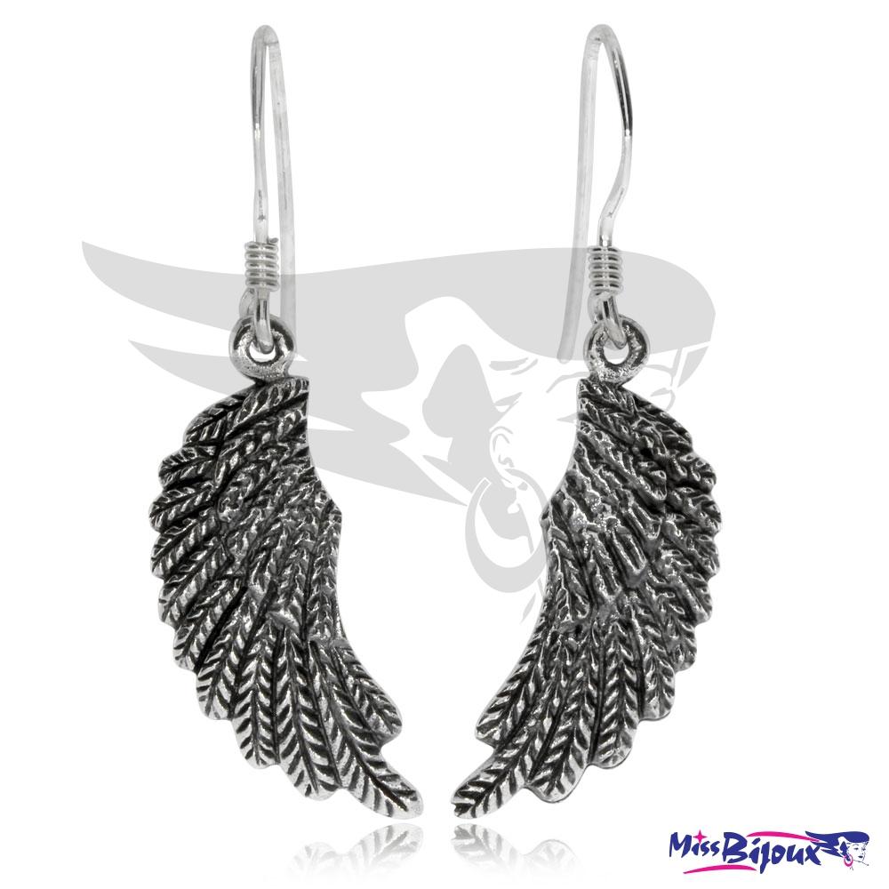 Stříbrné náušnice - Andělská křídla ve starostříbře fda504e6f64