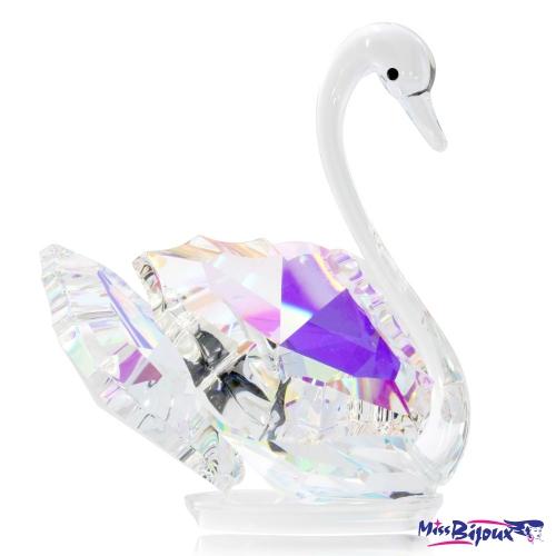 Křišťálová figurka Preciosa Labuť (světlá) 0199 42