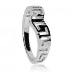 Stříbrný prsten - řecký motiv do špičky
