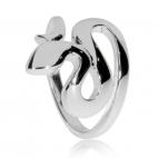 Stříbrný dámský prsten - Had