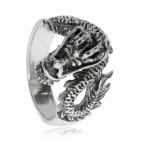 Stříbrný dračí prsten