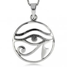 Stříbrný přívěsek - Horovo oko v kruhu