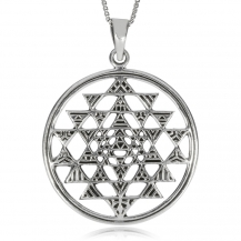 Stříbrný přívěsek - Mandala s trojúhelníky