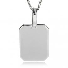Stříbrný přívěsek - Destička na monogram