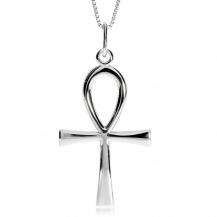 Stříbrný přívěsek - Nilský kříž (Ankh), velký