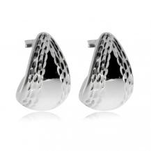 Stříbrné náušnice - Lesklé trojúhleníkové závěsy
