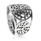 Stříbrný prsten s mandalou