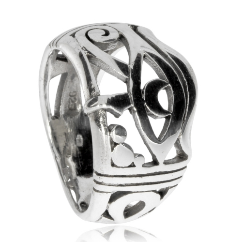 Stříbrný prsten - Horovo oko