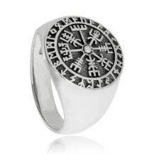 Pánský stříbrný prsten - Symbol Vegvisir