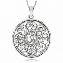 Stříbrný přívěsek - Amulet s indickým motivem