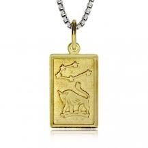 Stříbrný pozlacený přívěsek - Znamení Býk