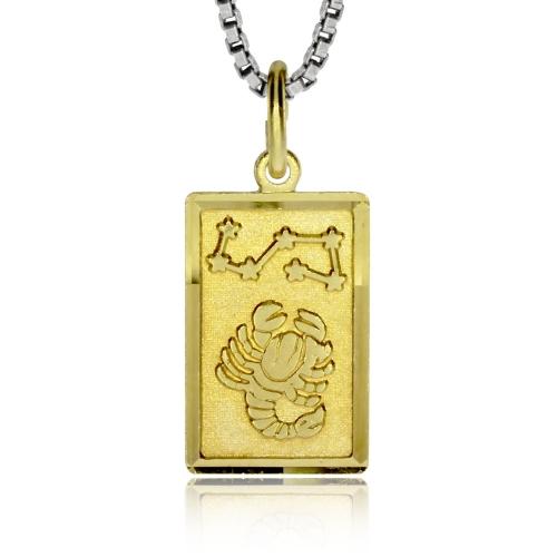 Stříbrný pozlacený přívěsek - Znamení Štír