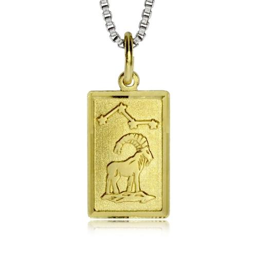 Stříbrný pozlacený přívěsek - Znamení Kozoroh