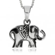 Stříbrný přívěsek - Malý sloník