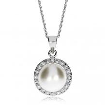 Stříbrný náhrdelník Preciosa Fascinating White 5102 00 - 45cm