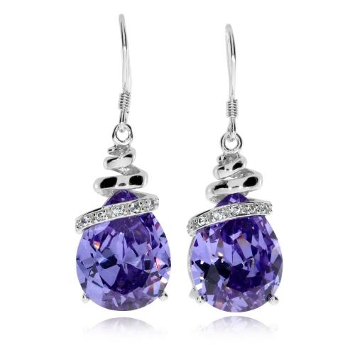 Stříbrné náušnice Preciosa Elegant Violet 5027 56