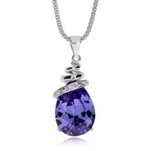 Stříbrný náhrdelník Preciosa Elegant Violet 5026 56 - 45cm
