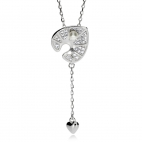 Stříbrný náhrdelník Preciosa White Water Lily 5192 00 - 38cm