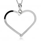 Stříbrný přívěsek - Obrys srdce