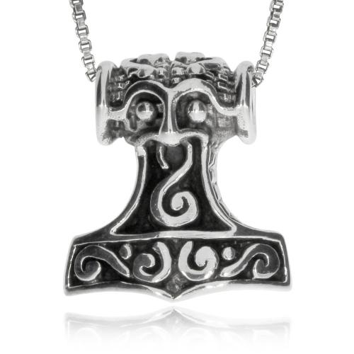 Stříbrný přívěsek - Thorovo menší havraní kladivo