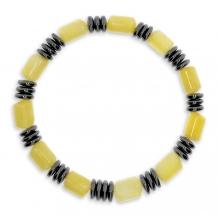 Pánský náramek z hematitu a žlutého onyxu