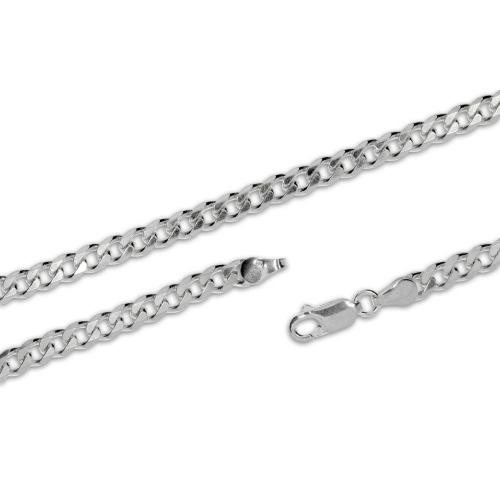 Stříbrný řetízek pánský - Grumeta - 55 cm