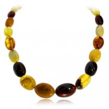 Jantarový náhrdelník - ovlálky