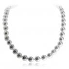 Náhrdelník se stříbrným uzávěrem - Perly umělé, 50 cm