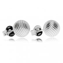 Stříbrné náušnice - Kuličky s vroubky