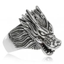 Pánský stříbrný prsten - Hlava šelmy