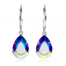 Stříbrné náušnice Preciosa Iris Crystal AB 6079 42