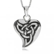 Stříbrný přívěsek - Srdce s keltským uzlem