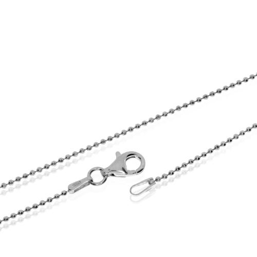 Stříbrný řetízek z broušených kuliček - 70 cm