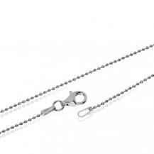 Stříbrný řetízek z broušených kuliček - 60 cm