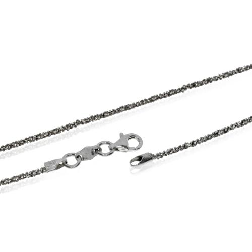 Stříbrný řetízek třpytivá Daisy - 45 cm