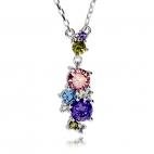 Stříbrný náhrdelník Preciosa Flower Combi 5238 70 - 38+7 cm
