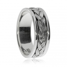 Stříbrný pánský prsten - Zdobený kroužek