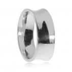 Stříbrný prsten unisex - Lesklý prohnutý kroužek